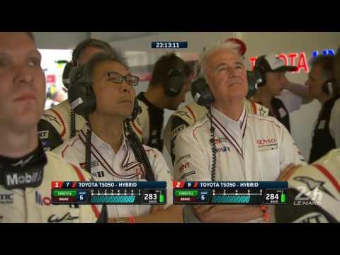 24 Heures du Mans 2017 - Après 45 minutes de course, bagarre entre les deux Toyota de tête