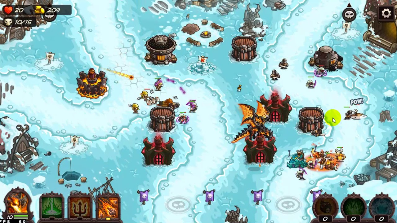 Kingdom Rush Vengeance: Level 10 - Northerner's Village - Veteran 3 star