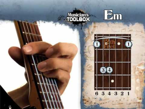 How to play the Em barre chord on guitar Em bar chord - YouTube