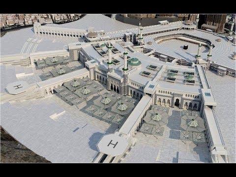 New Umbralla Sunshade on Holy Kaaba  Makkah and Masjidul Haram, Saudi Arabia