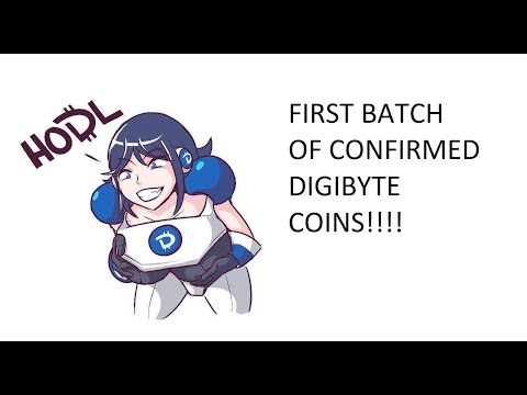 Hello World! My First Batch of Confirmed Digibyte Coins - SLOBOT1 - DIGIBYTE MINING