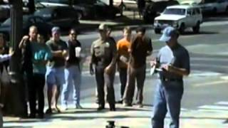 Alex Jones Burns United Nations Flag - United Nations a cover for a foreign Coup D
