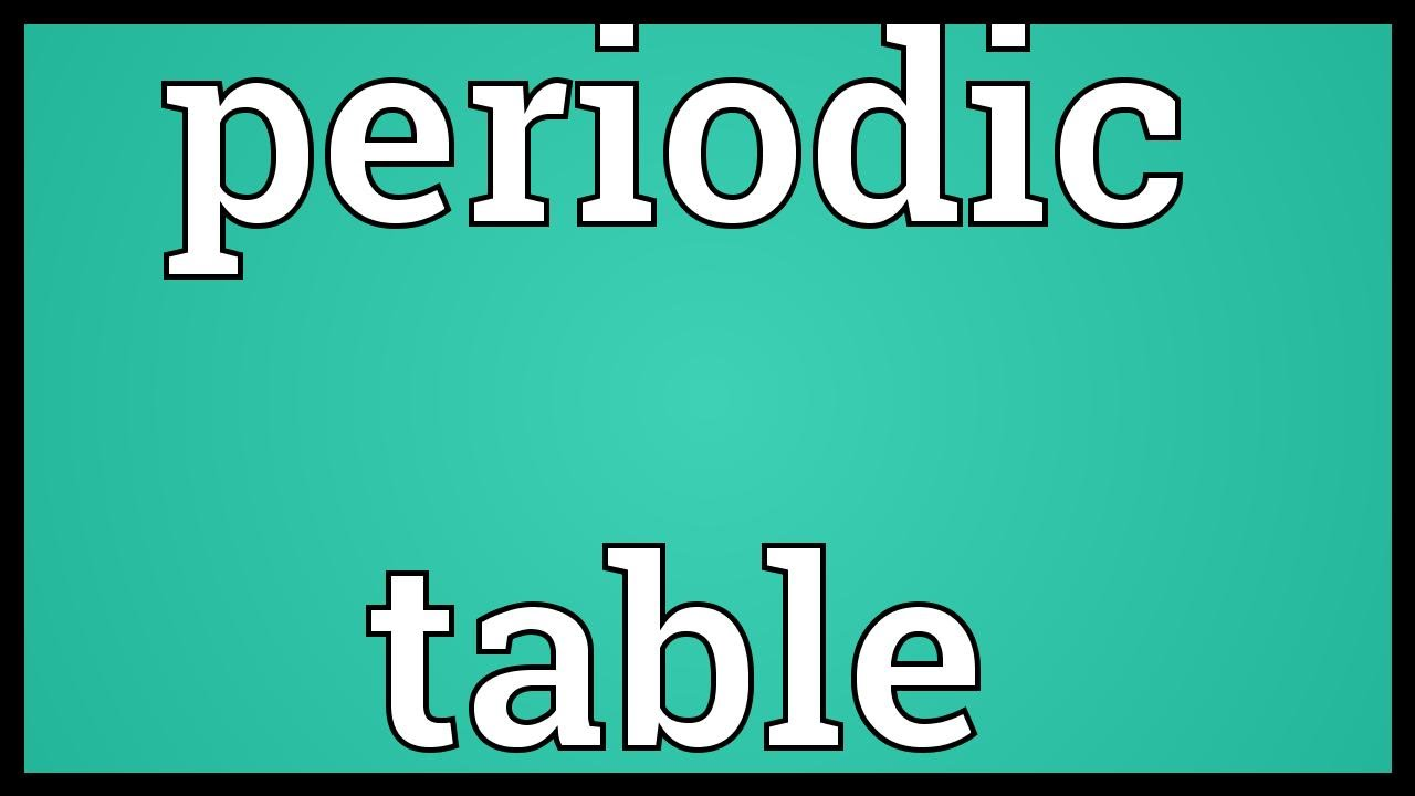 Periodic table meaning youtube periodic table meaning urtaz Choice Image