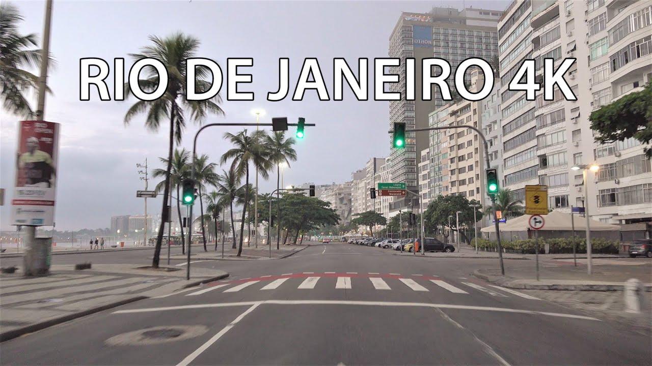 Rio 4K - Copacabana Beach - Morning Drive