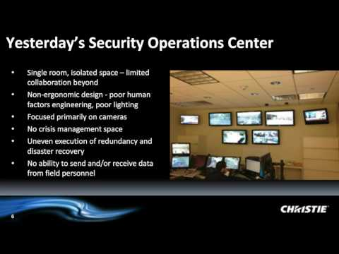 Webinar - Real-time situation awareness. Video wall design and technology for the SOC | By Christie