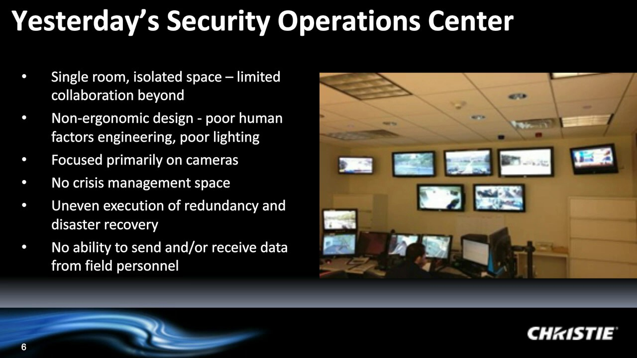 Webinar - Real-time situation awareness  Video wall design and technology  for the SOC | By Christie