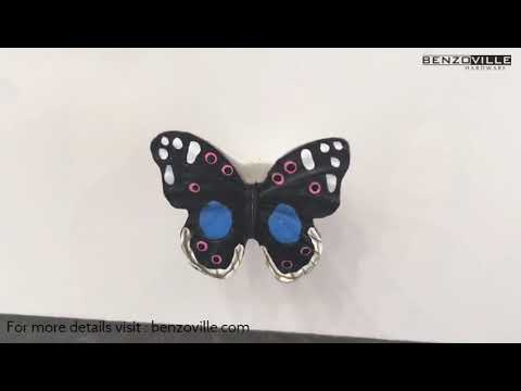 Benzoville Butterfly Cabinet Knob 38mm Multicolour From Siro