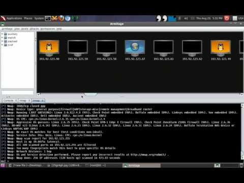 How To Scan Web Server With Armitage On BackTrack 5 R3