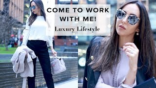 COME TO WORK WITH ME! + Microblading My Hairline | Luxe VLOG 😃 | Sophie Shohet