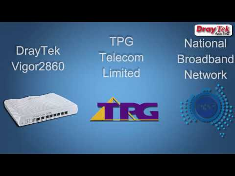 How to Configure the DrayTek Vigor 2860 for TPG NBN - YouTube