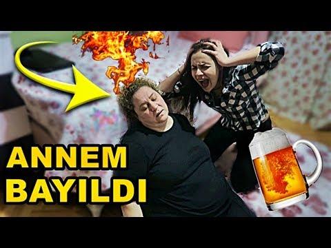 ANNEME SARHOŞ OLDUM ŞAKASI YAPTIM !! (BAYILDI)