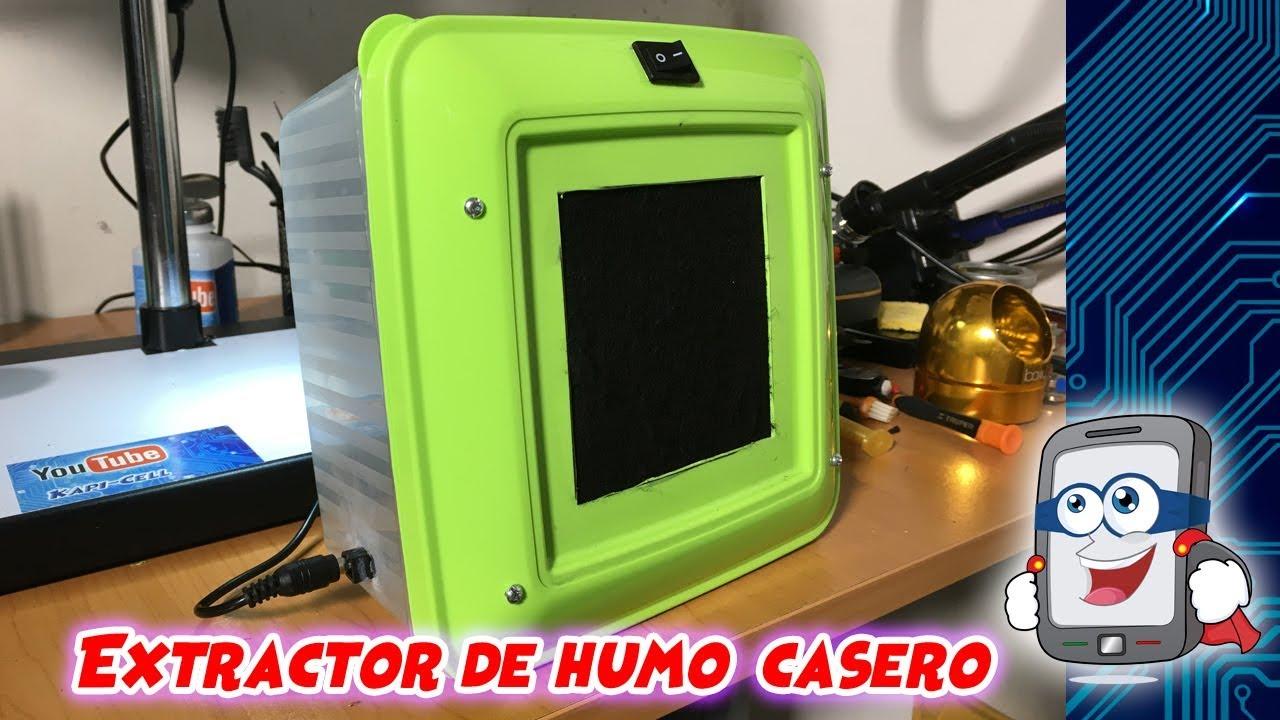 Fabricación De Extractor De Humo Casero Youtube