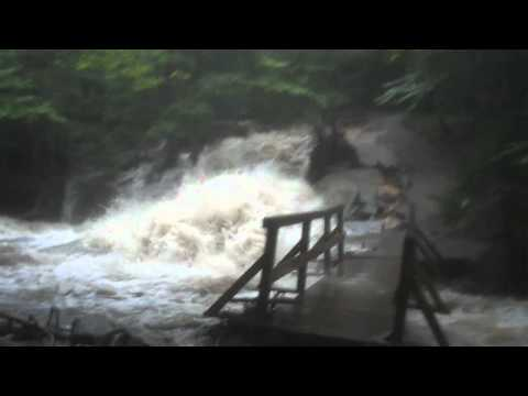 Basin in Franconia NH during Irene