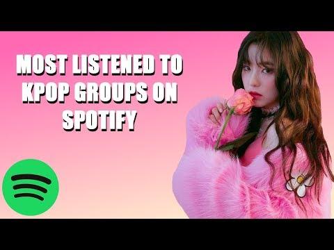 [TOP 25] MOST LISTENED TO KPOP GROUPS ON SPOTIFY