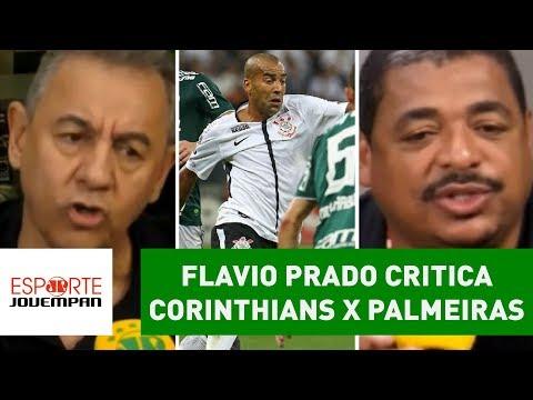 Flavio Prado Critica Corinthians X Palmeiras, E Vampeta REBATE!