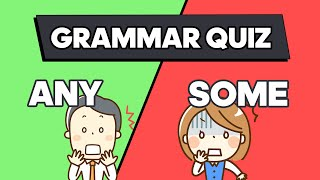 The BEST Method to Learn English | Any and Some QUIZ for Beginners