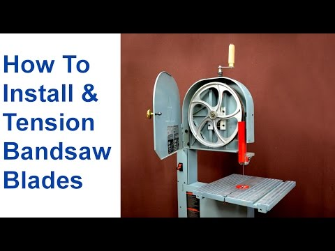 How to Change a Bandsaw Blade & Tension Bandsaw Blades