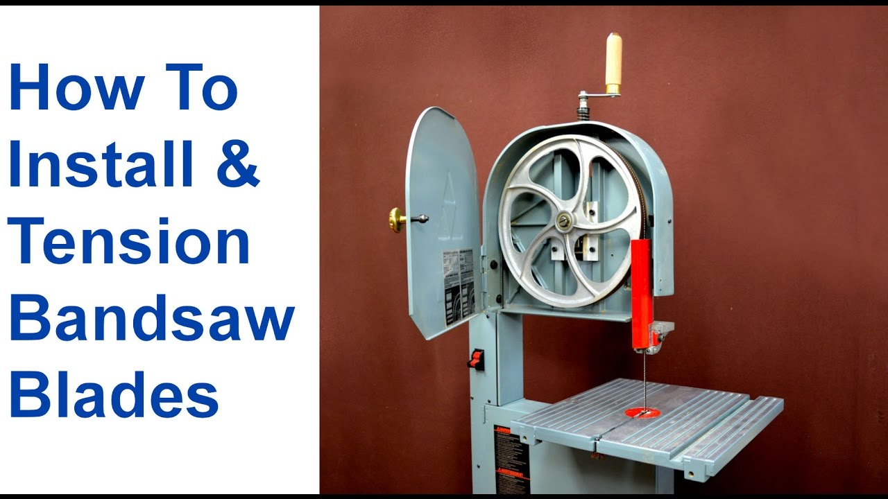 How to change a bandsaw blade tension bandsaw blades youtube how to change a bandsaw blade tension bandsaw blades greentooth Gallery