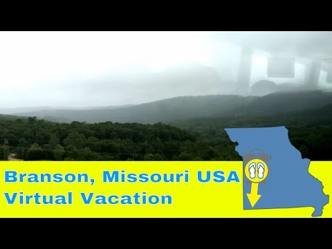 Branson, Missouri USA - Scenic Drive Outside of City