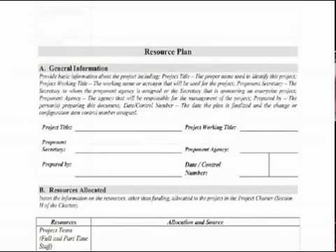Resource Plan Template - Youtube