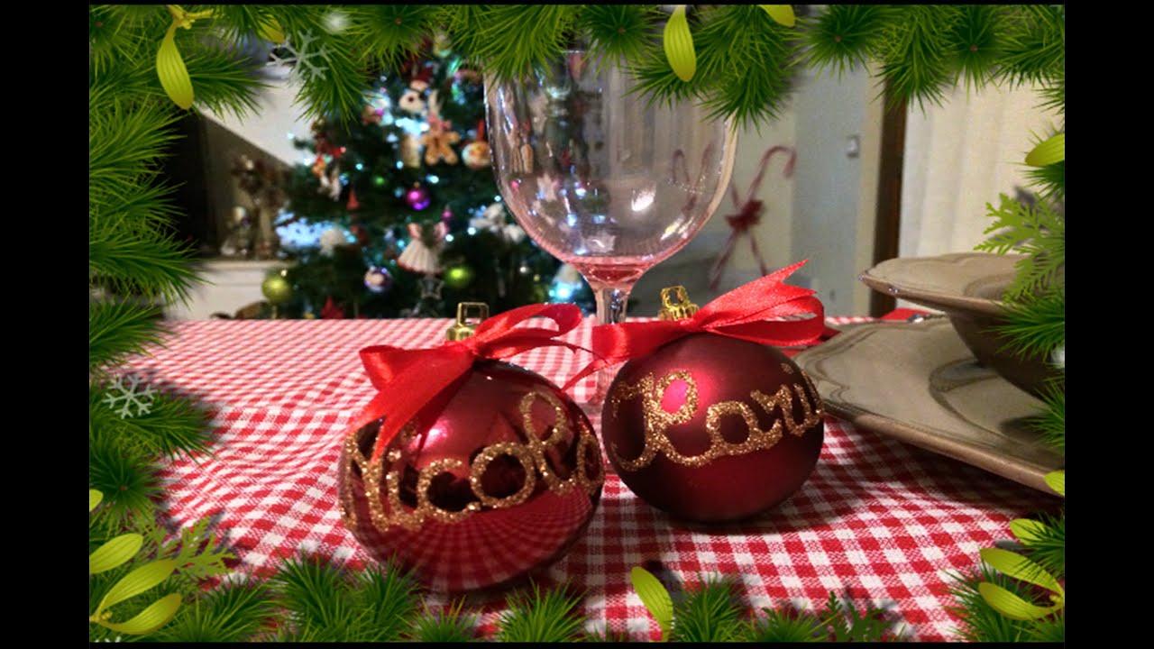 Segnaposto natalizi facili e veloci da realizzare youtube for Lavoretti di natale fai da te semplici e veloci