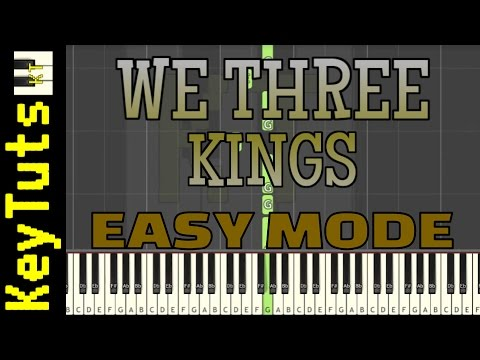 Learn to Play We Three Kings - Easy Mode