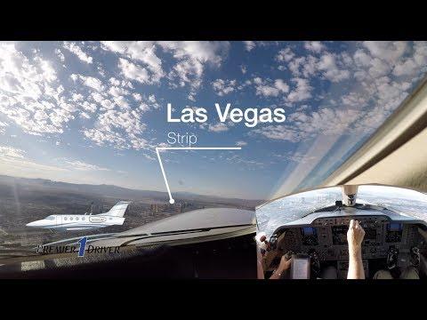 Las Vegas Strip to Billings, Montana....Private jet ride along