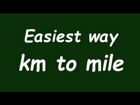 Convert Kilometer To Mile Km To Mile Example And Formula