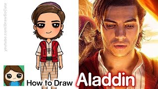 How To Draw Aladdin | Disney's New Aladdin Movie