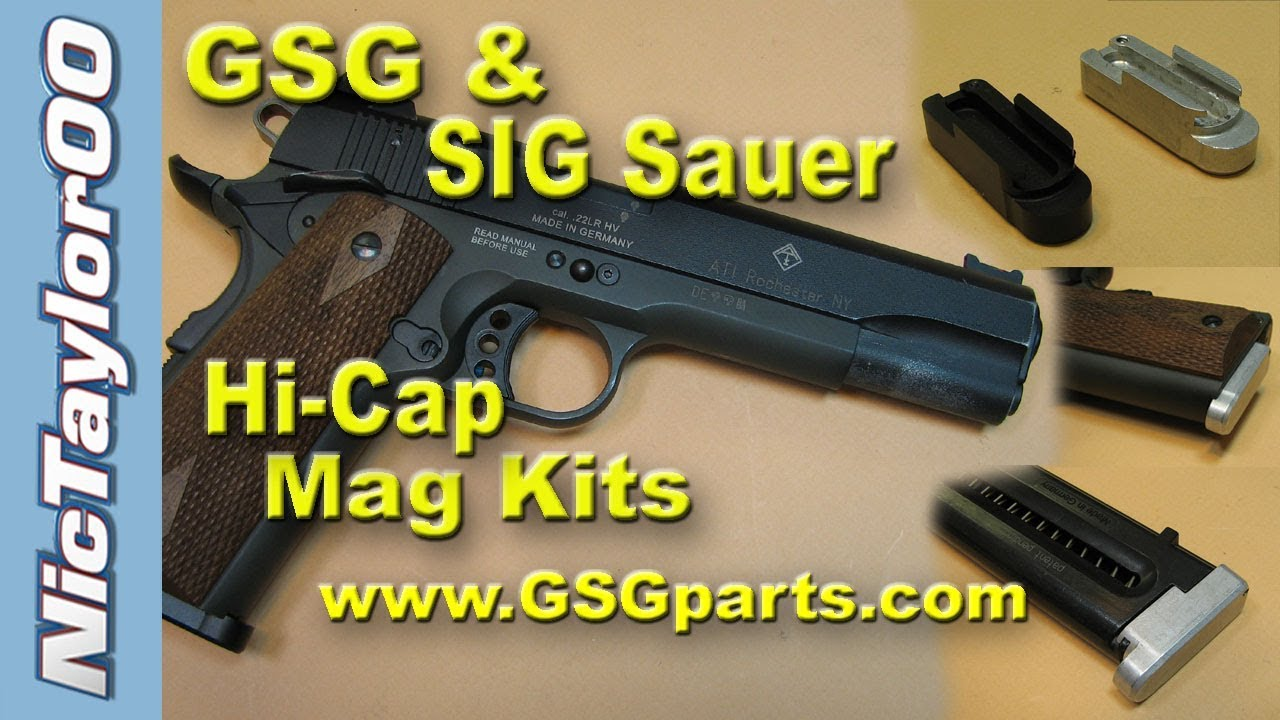 Gsg Sig Sauer 1911 22lr High Capacity Magazine Are In