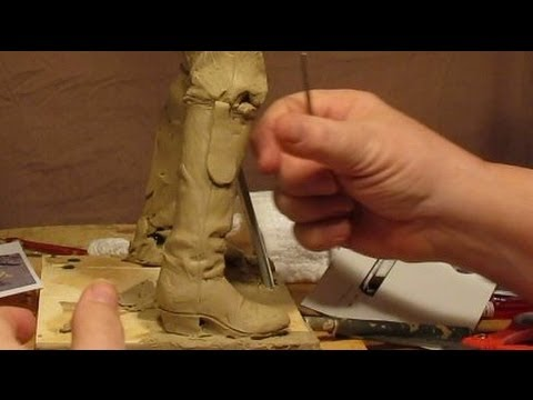 Sculpting With Lemon - Morning Joe - His Right Boot with Mule Ears