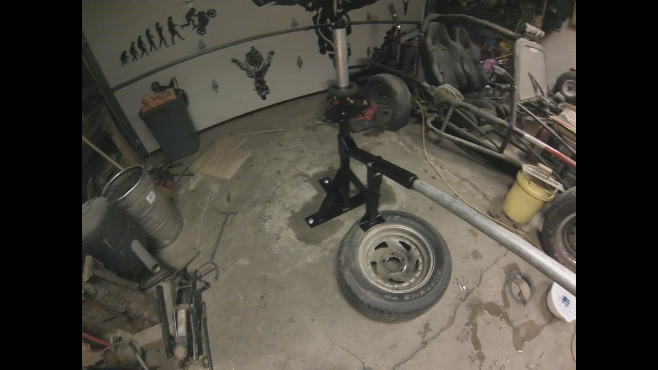 garage tire rack ideas - How To Build A Homemade Tire Changer From Scrap Metal