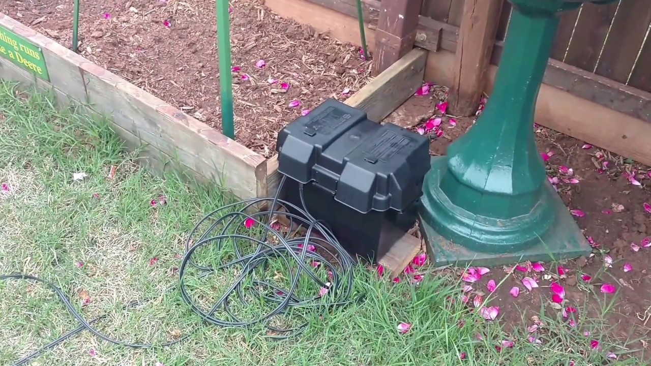 Diy 12v solar powered pond pump pumping water test not for Homemade water pump for pond