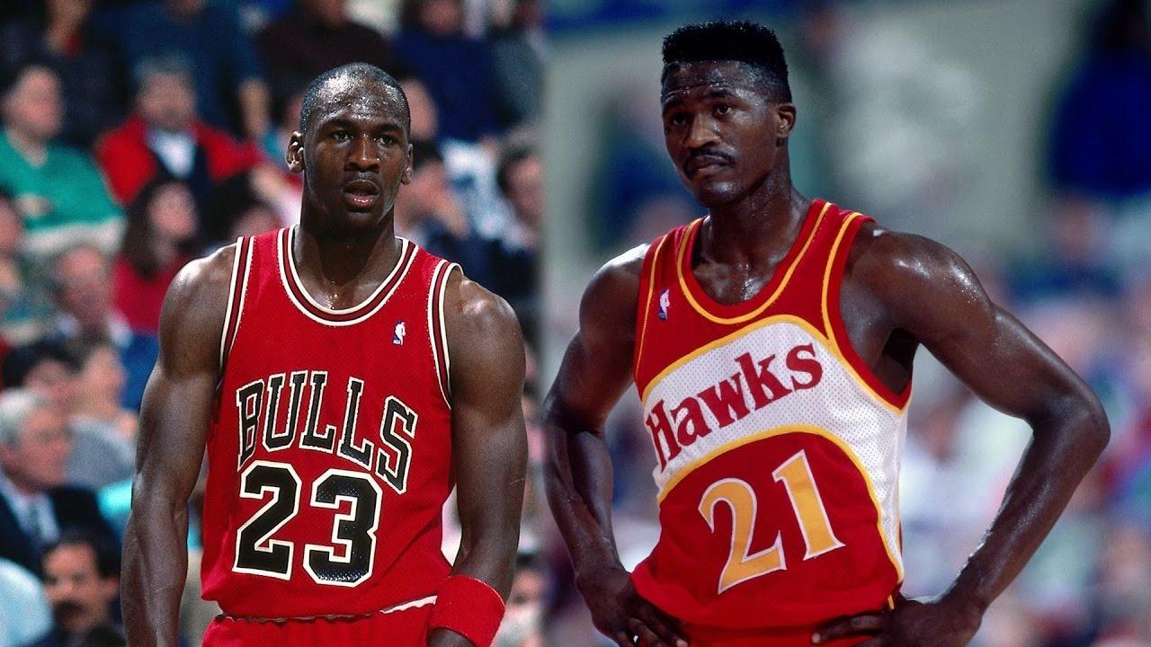Dominique Wilkins VS Michael Jordan  be19a775de