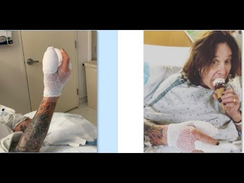 Ozzy Osbourne in hospital with hand infection, Oct 6th show in Mountain View, CA postponed..