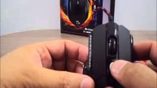 Mouse USB Gamer 3200 dpi Sensor Laser 8 botões Multilaser Warrior MO191