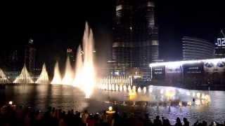Dubai fountain show 2014 (HIGH QUALITY) Burj Khalifa