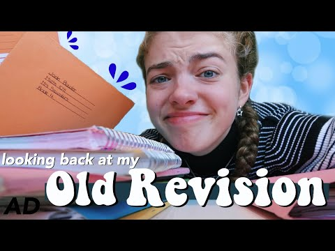 Cringing at my Old Revision!! GCSE Study Notes, Tips and Reminiscing School 📚 | AD