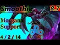 Smoothie as Morgana Support - S8 Patch 8.7 - NA Challenger - Full Gameplay
