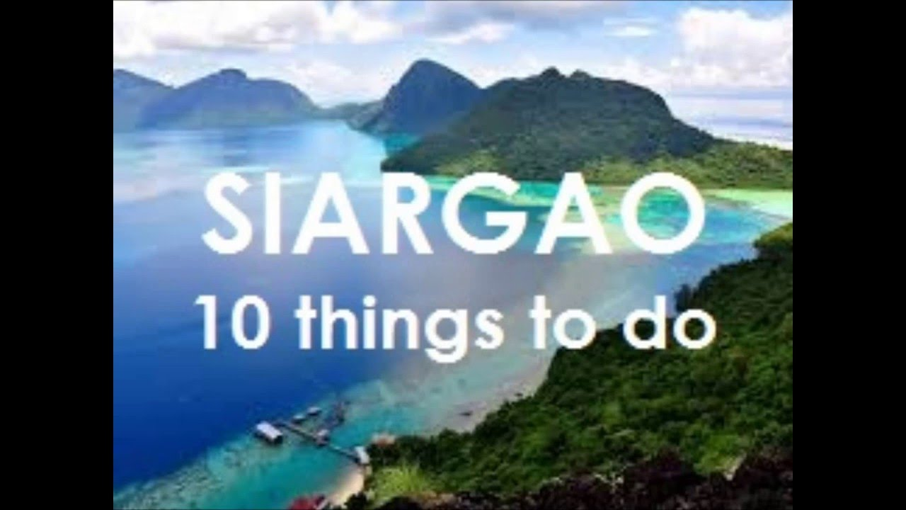 10 things to do in siargao youtube