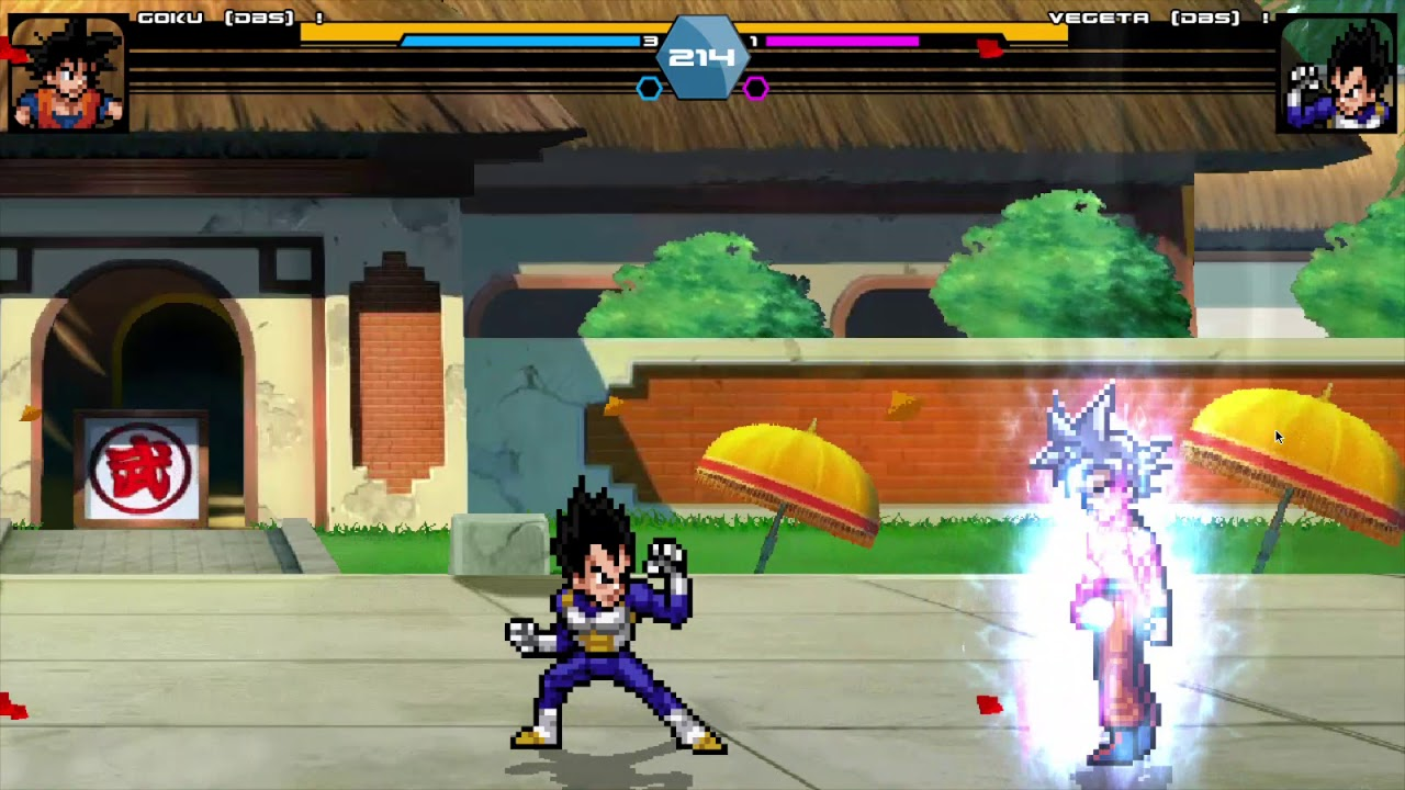 Goku MUI vs Vegeta SSB Shinka (TEST) [Dragon Ball - JUS Edition Ultimate]