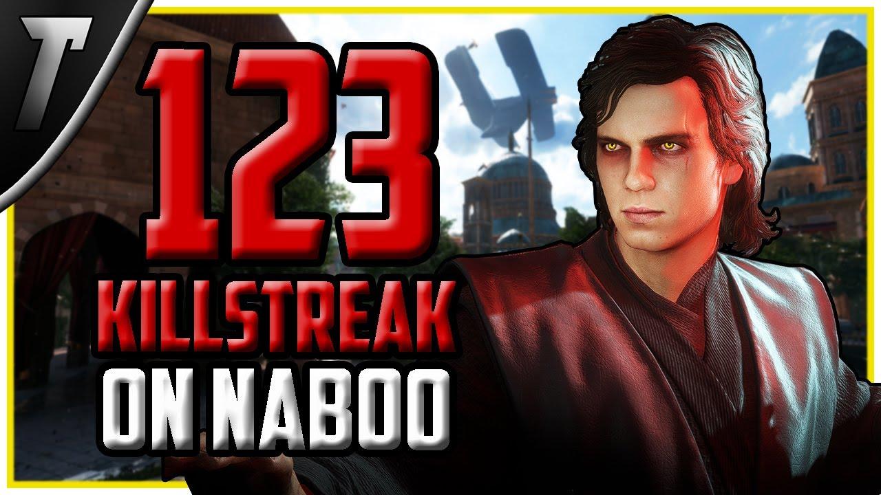 Star Wars Battlefront 2 Fallen Anakin Skywalker 123 Killstreak (Naboo)