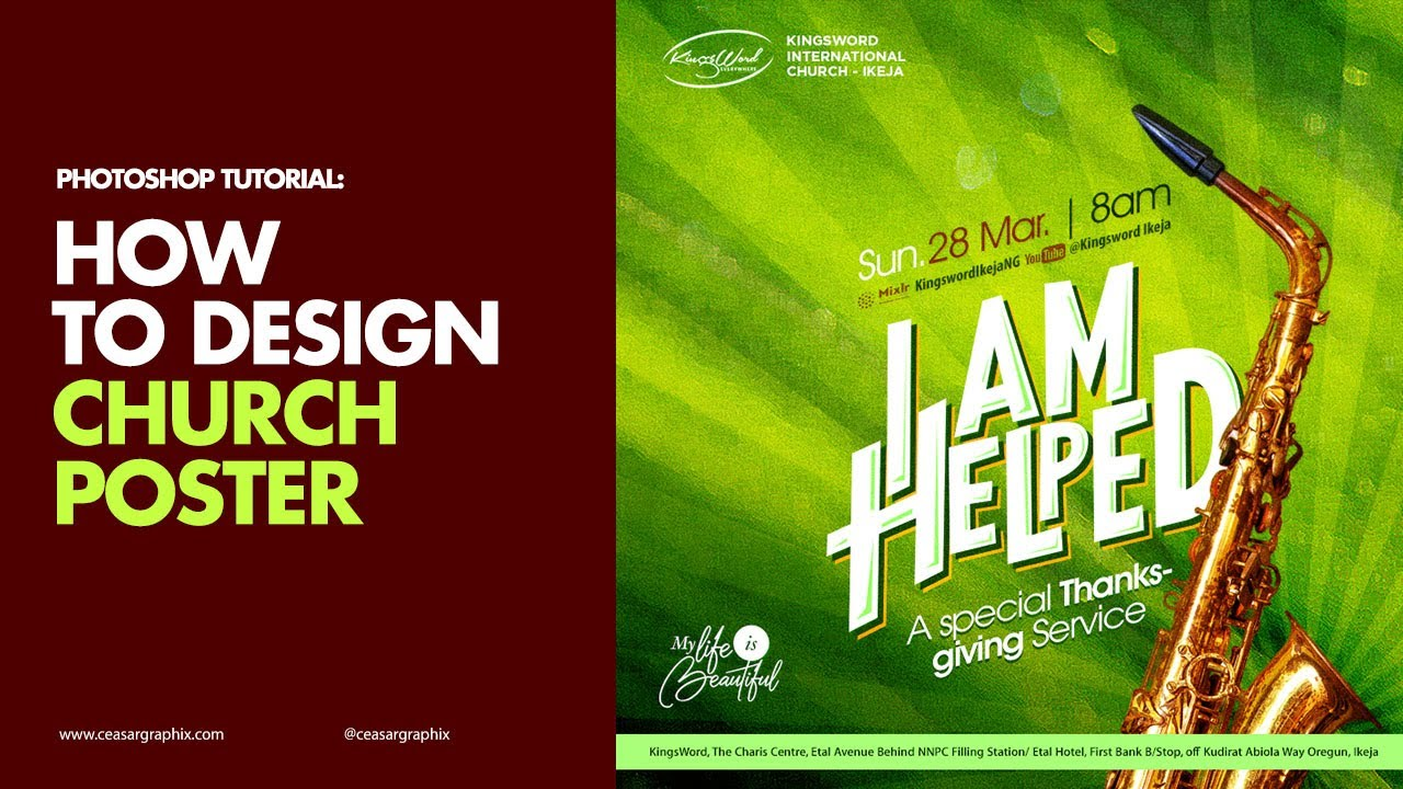 How to Design a Thanksgiving Service Church Poster (Fast)
