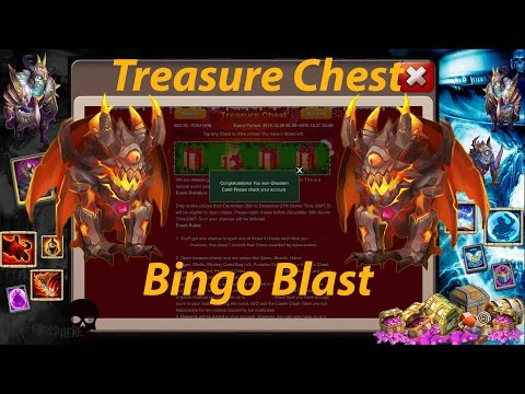 Castle Clash - Doing Events: Bingo Blast & Treasure Chest!