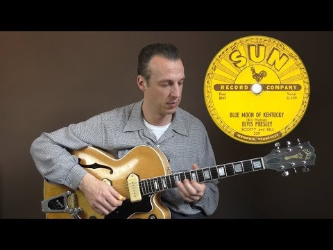 Rockabilly Guitar Lesson - Blue Moon Of Kentucky - Scotty Moore Solo