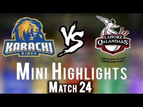 Short Highlights   Lahore Qalandars Vs Karachi Kings    Match 24   11 March   HBL PSL 2018 thumbnail