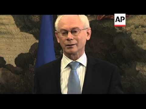 Van Rompuy visits, meets Coelho, comments
