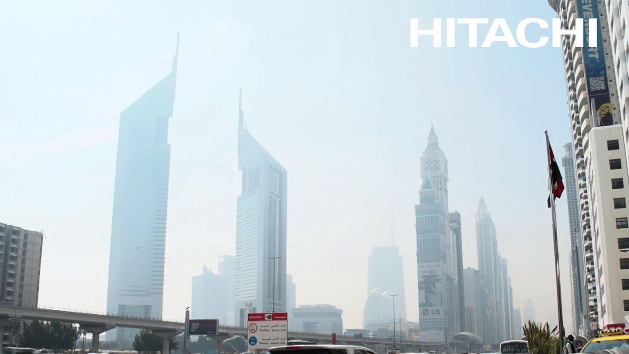 Benefits Hitachi solar powered desalination plants Abu Dhabi