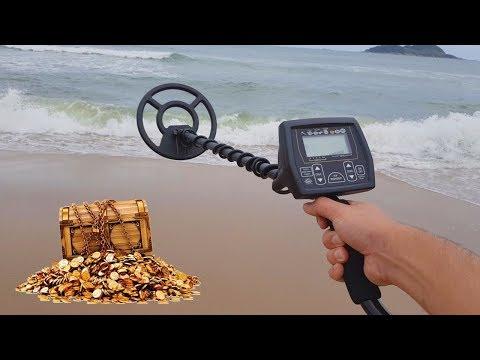 Procurando TESOUROS na Praia com um Detector de Metais PROFISSIONAL !!!