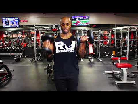 Bicep Alternating  hammer curls with static hold